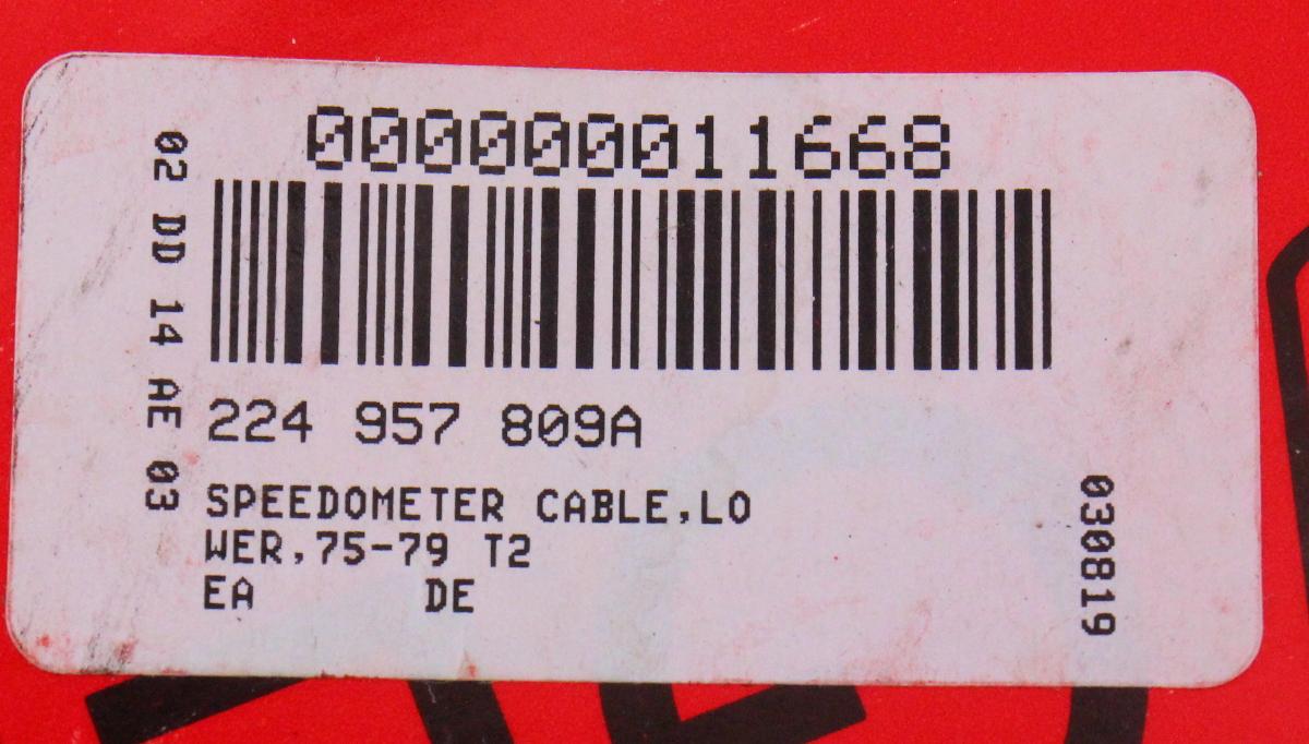 Speedometer Speedo Cable 75-79 VW Bus T2 Type 2 - Gemo