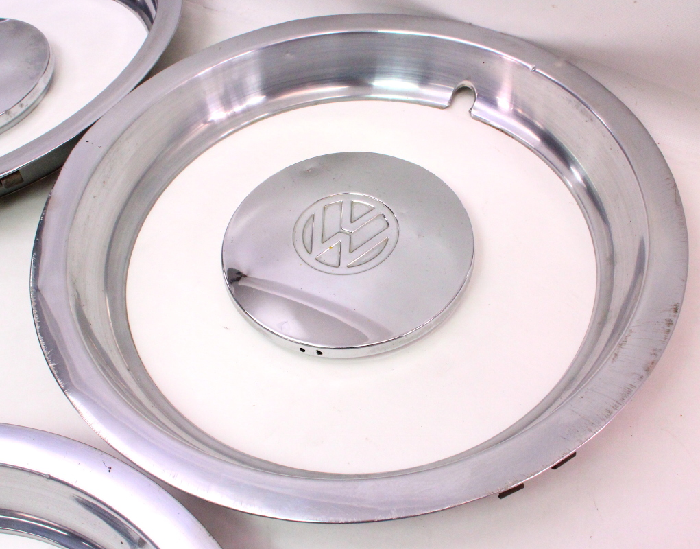 chrome wheel center hub cap hubcap set  beauty rings   vw rabbit jetta mk carpartssale