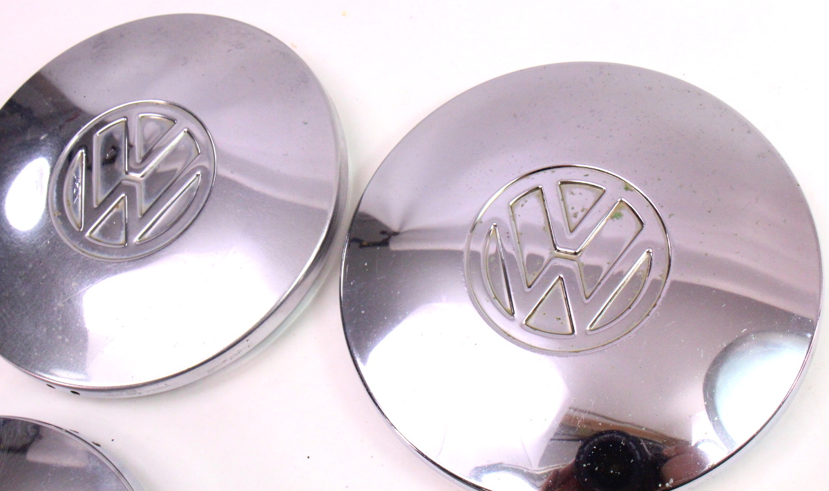 Chrome Steel Wheel Center Hub Cap Hubcap Set 75-84 VW ...