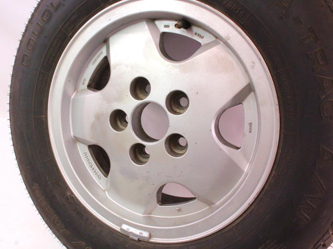 "Genuine VW 14"" x 6"" Alloy Spare Wheel Rim 80-91 Vanagon T3 With Tire | CarParts4Sale, Inc."