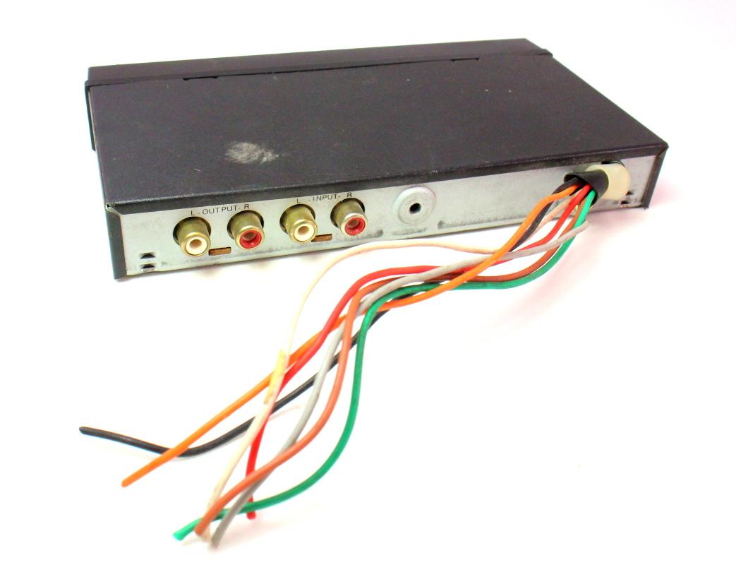 realistic car audio  din  band equalizer   aux input carpartssale
