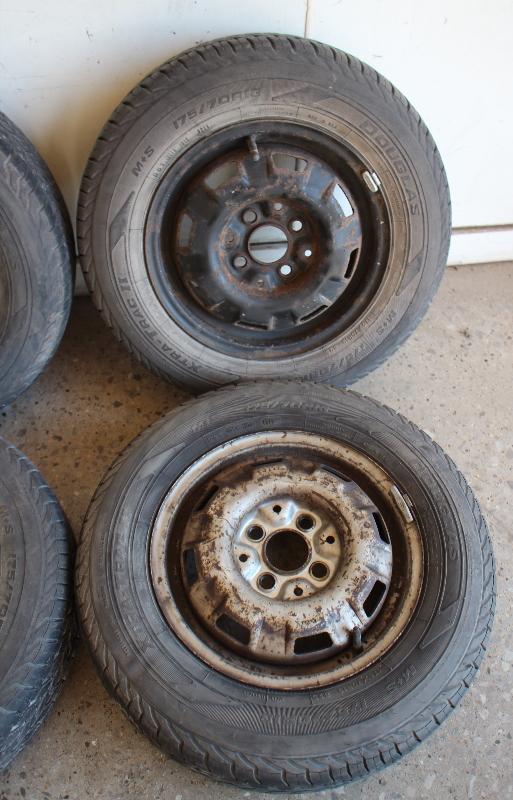 steel wheel rim set  vw jetta rabbit pickup mk  tires carpartssale