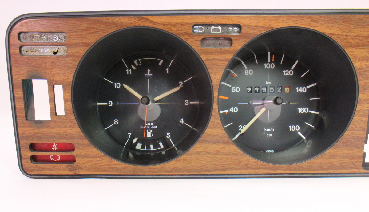 Used Car Parts For Sale >> Early Dash Gauge Cluster Speedometer Wood Trim Panel 75-80 ...