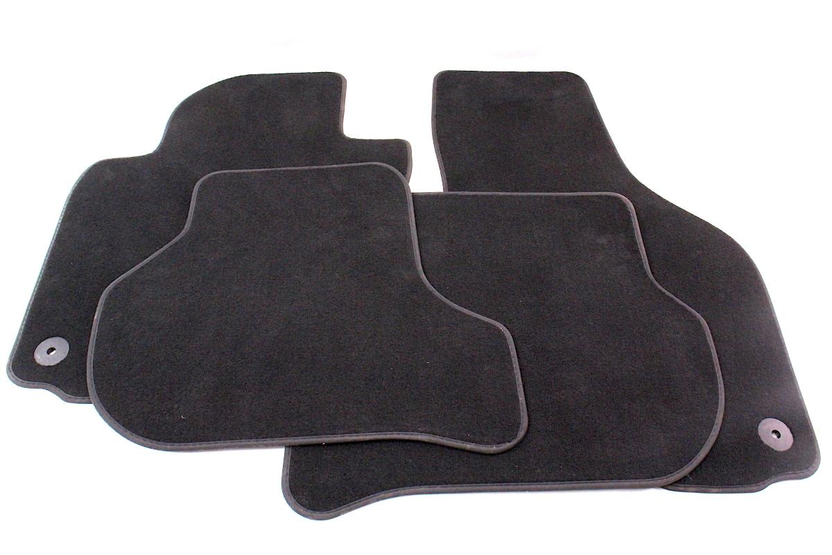 Floor Mats Set 06 09 Vw Rabbit Gti Mk5 Black Carpet