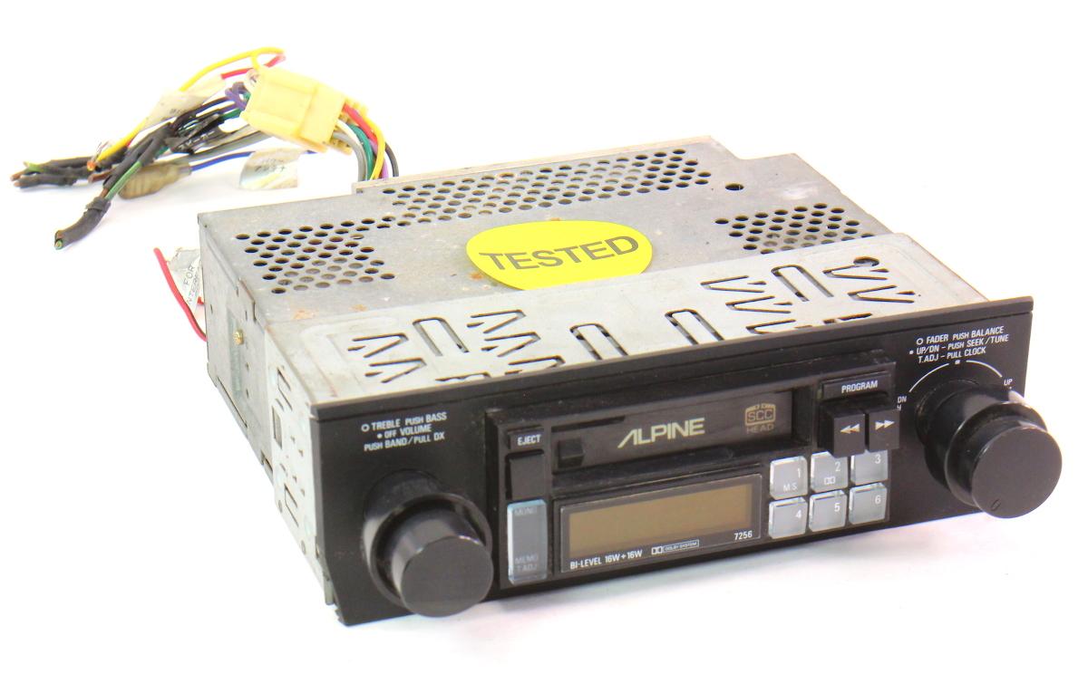 Alpine 7256 Old School Vintage Tape Deck Player Car Radio Head Unit Cassette Carparts4sale Inc