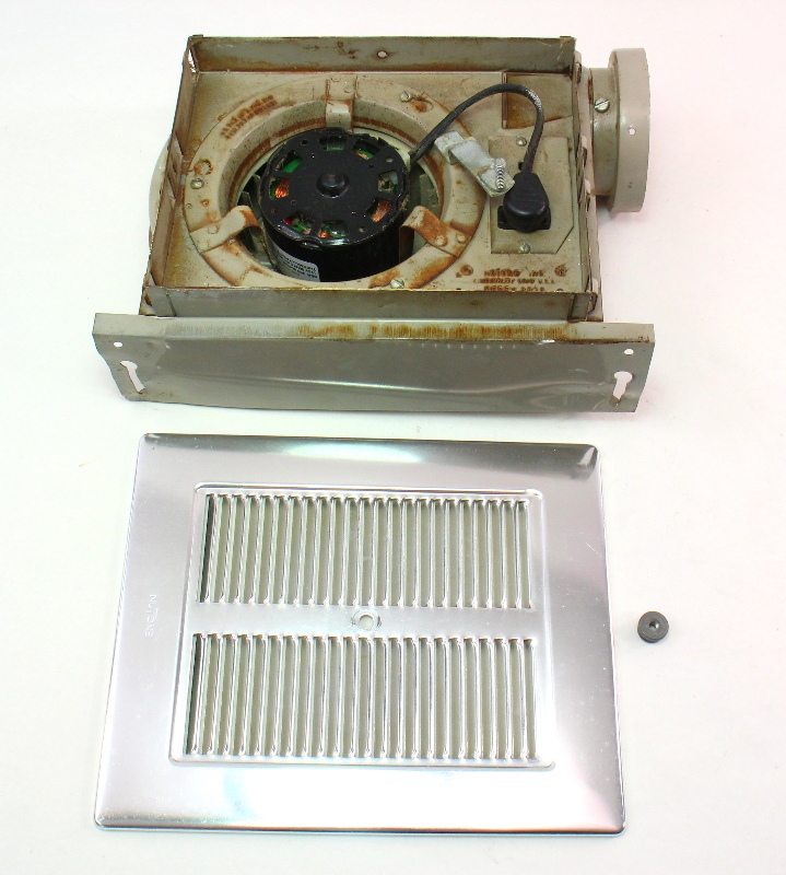 Bathroom Fan Cover Replacement Parts: Nutone Model 8830 Vintage Old School Bathroom Fan Assembly