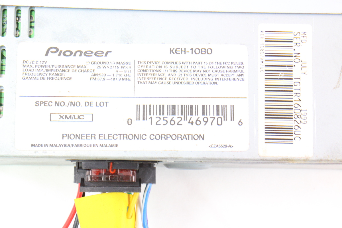 cp046163 pioneer keh 1080 old school vintage tape player car radio head unit cassette 4 keh 1080 wiring diagram wiring low voltage under cabinet lighting fdcio422 wiring diagram at bayanpartner.co