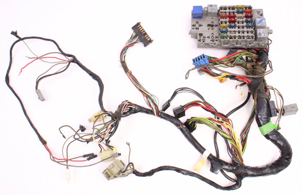 dash interior wiring harness   fuse box 81 84 vw rabbit 84 VW Cabriolet 84 VW Cabriolet