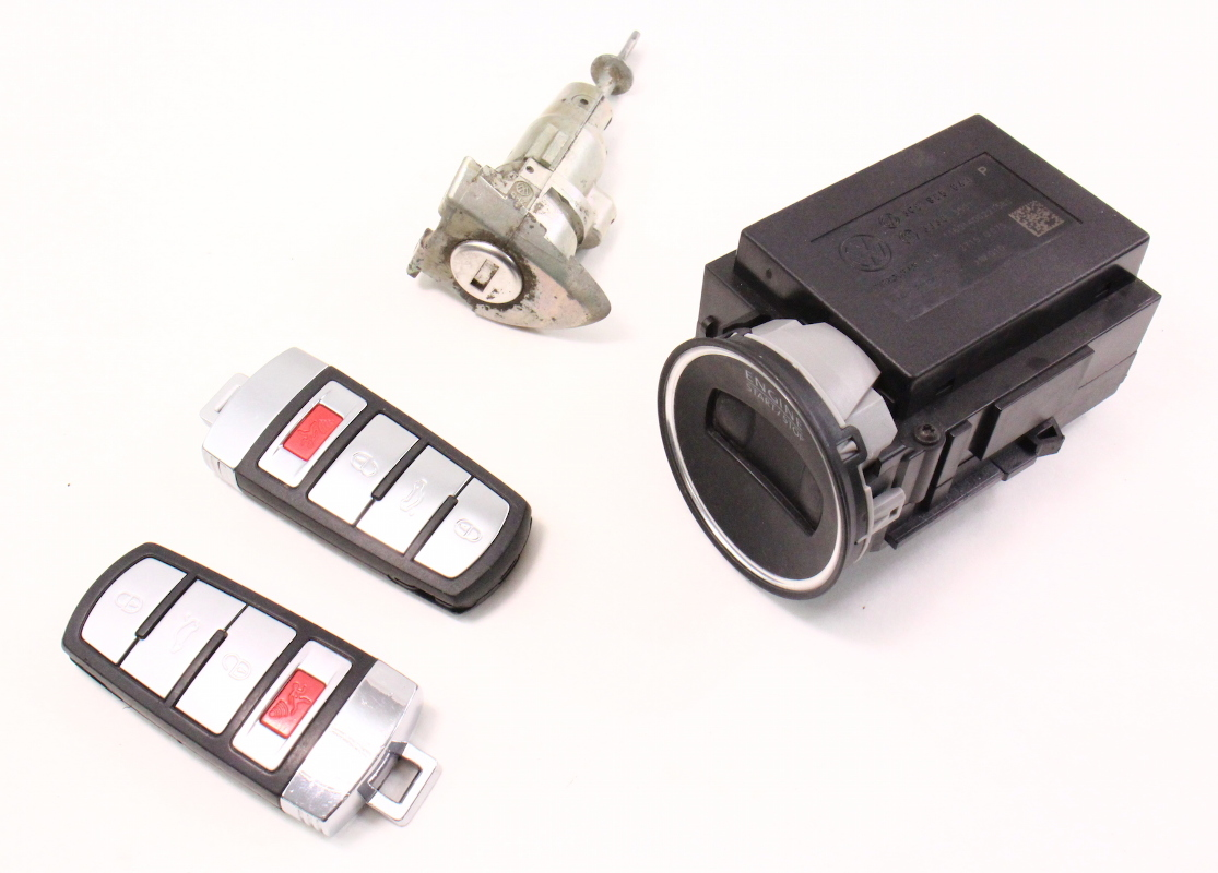ignition lock set key fob remote 06 10 vw passat b6. Black Bedroom Furniture Sets. Home Design Ideas