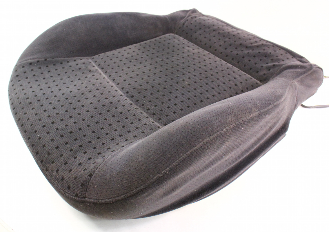 front seat cushion cover foam 98 01 vw passat b5 heated black cloth carparts4sale inc. Black Bedroom Furniture Sets. Home Design Ideas