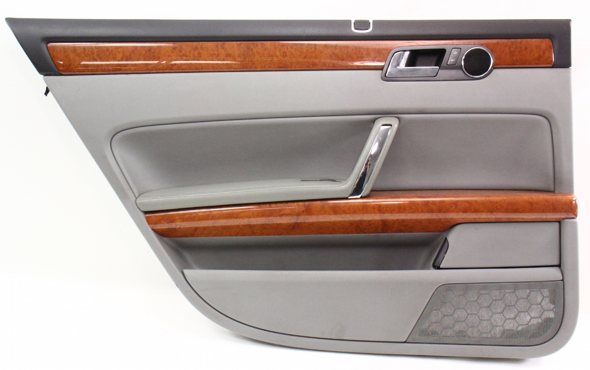 Lh rear interior door panel card 04 06 vw phaeton gray for Back door with window that opens