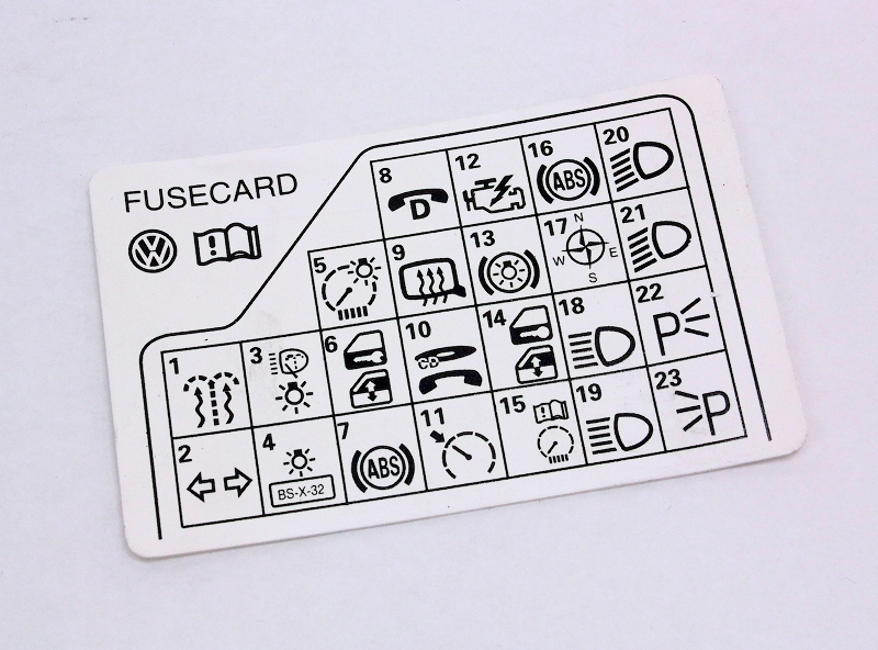 96 jetta fuse box fuse panel diagram key card 98 05 vw passat b5 genuine