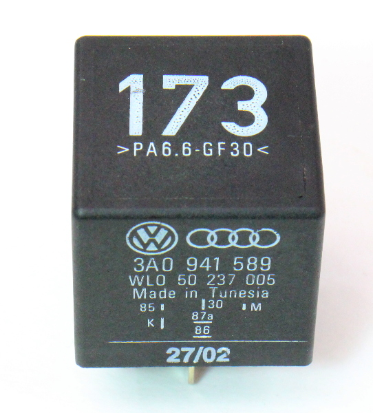 Relay # 173 DRL Daytime Running Lights VW Audi - Genuine - 3A0 941 589