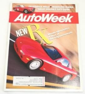 AutoWeek, November 18 1991, Mazda RX-7