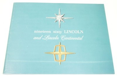 Original Dealer Showroom Brochure - 1960 Lincolin