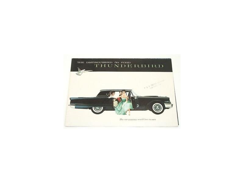 1959 Ford Thunderbird Original Dealer Showroom Brochure