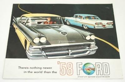 Original Dealer Showroom Brochure Poster - 1958 Ford
