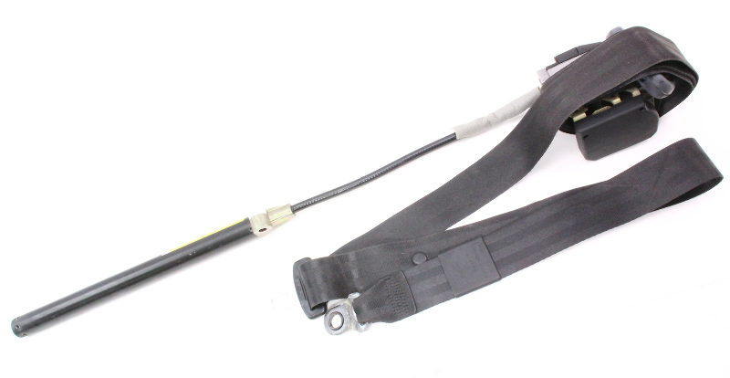 LH Front Seat Belt 95-97 VW Passat B4 - Black - Genuine - 3A0 857 705 B