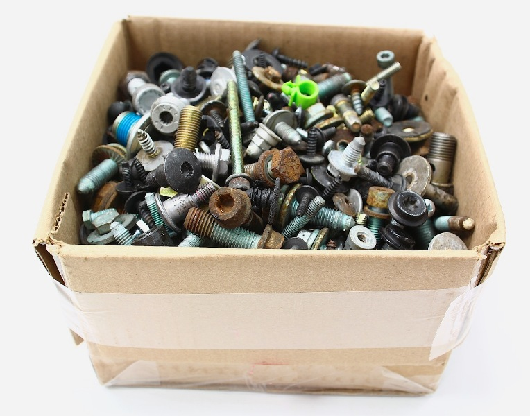 Box Of Bolts Nuts Screws Hardware 21 Lbs 93