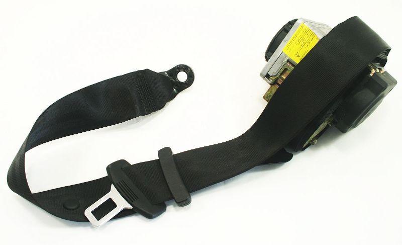 LH Rear Seat Belt 98-05 VW Passat B5 B5.5 - Black - Genuine - 3B5 857 805 D