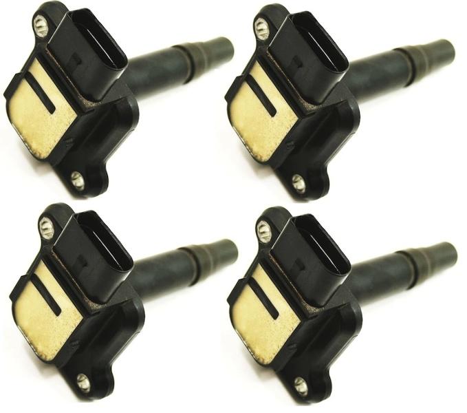 Set Of 4 Ignition Coils Audi A4 A6 A8 Tt Beetle Jetta Golf