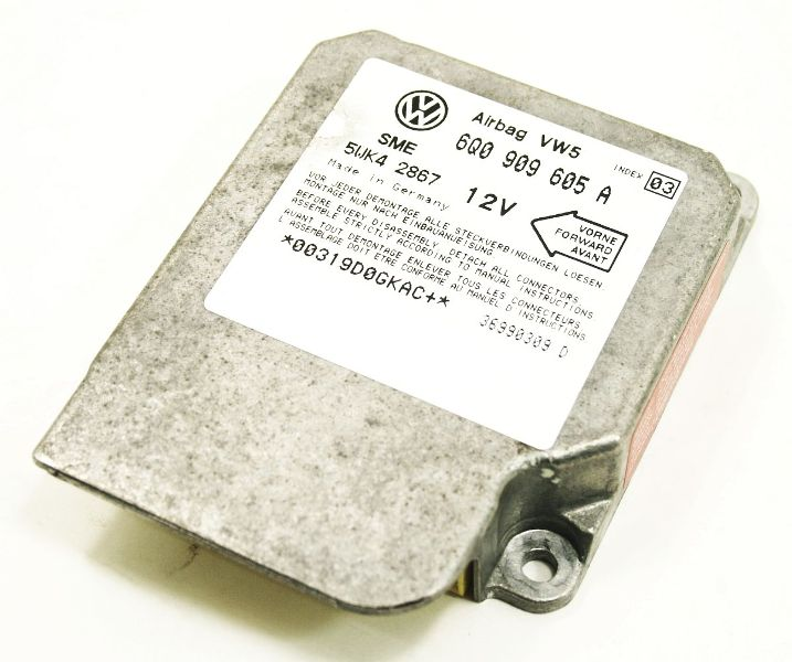 Airbag Computer Module 2001 01 Vw Beetle Air Bag 6q0 909