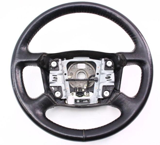 black leather steering wheel 98-04 audi a6 c5