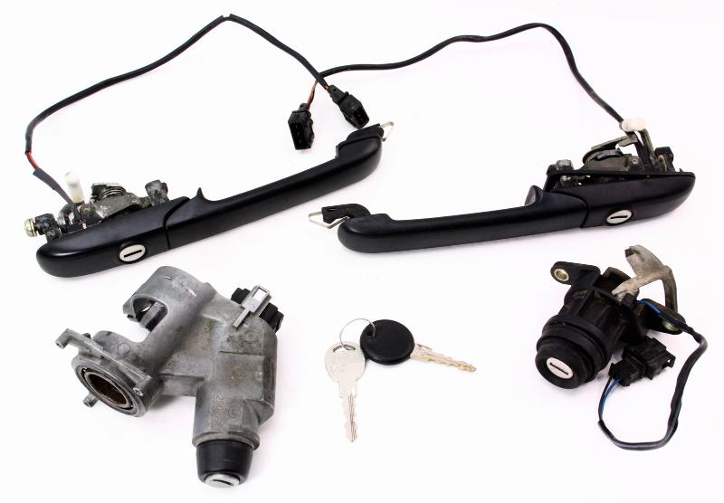 Door Handle Keys Lock Ignition Set Vw Passat Vw 95 97