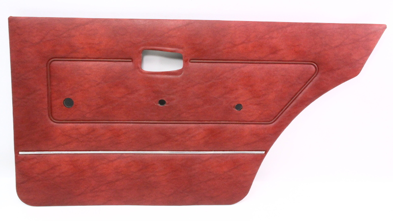 Rh Rear Interior Door Card Panel Vw Rabbit Mk1 - Red - Genuine Oe