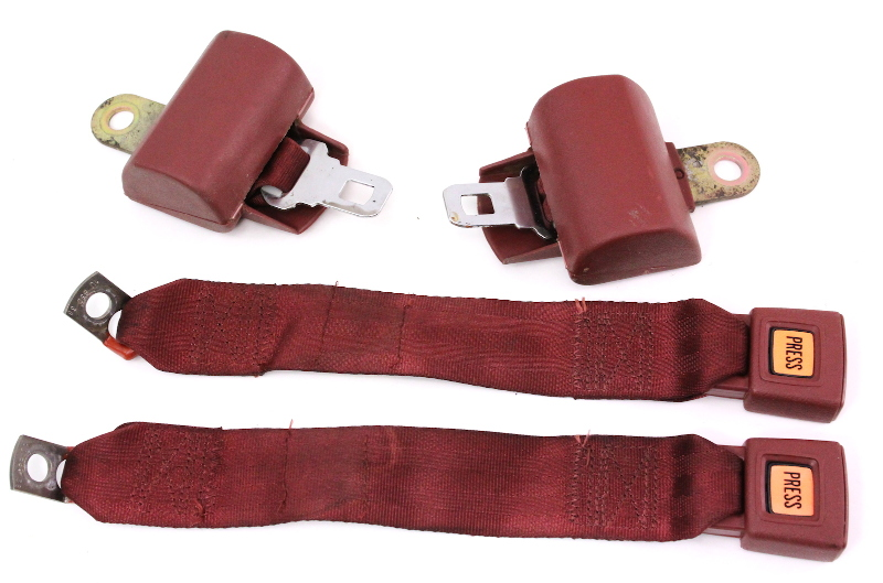 Rear Back Seat Belt Seatbelt Set 75 84 Vw Rabbit Mk1 Red