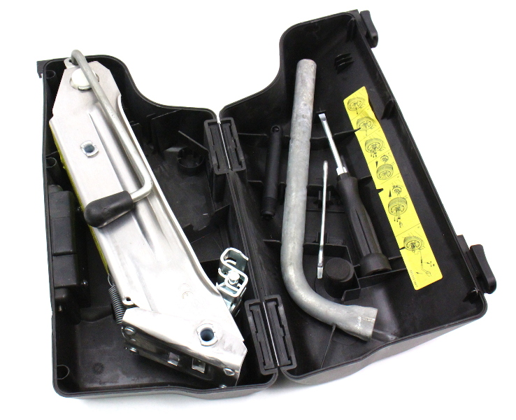 Trunk Tool Kit 01 05 Audi Allroad Jack Lug Wrench Tools Case Genuine