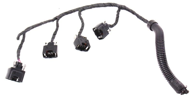 Fuel Injector Pigtails Plugs Harness Vw 99 01 Jetta Golf