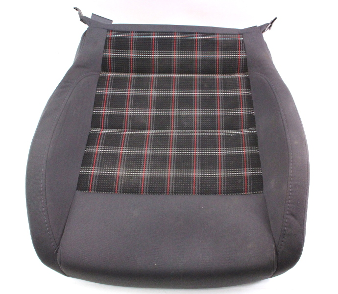LH Front Sport Plaid Seat Cushion 05-10 VW Jetta GLI GTI MK5 - Genuine