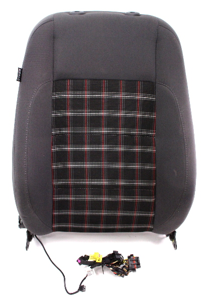 Front sport plaid seat back rest amp air bag 05 10 vw jetta gli gti mk5