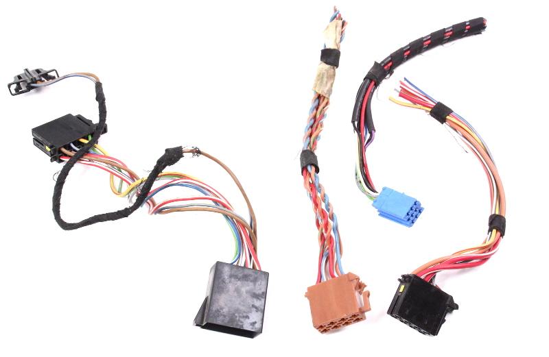 Radio Head Unit Wiring Connectors Plugs Pigtails 99 01 Vw