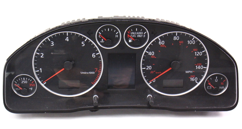 Gauge Instrument Cluster Speedometer Parts Only 02 04 Audi