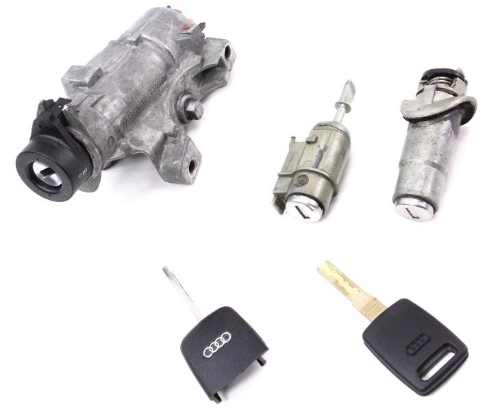 Lock Set - Ignition Key 02-04 Audi A6 S6 C5