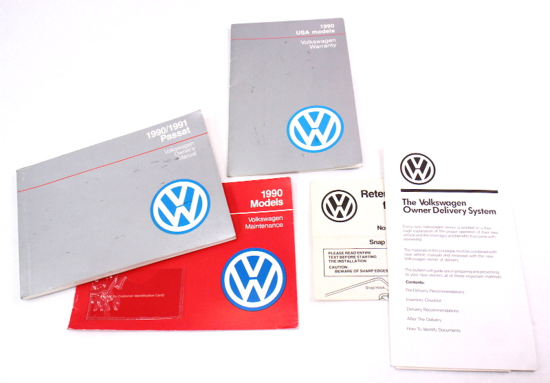 Owners Manual Books 1990 Vw Passat