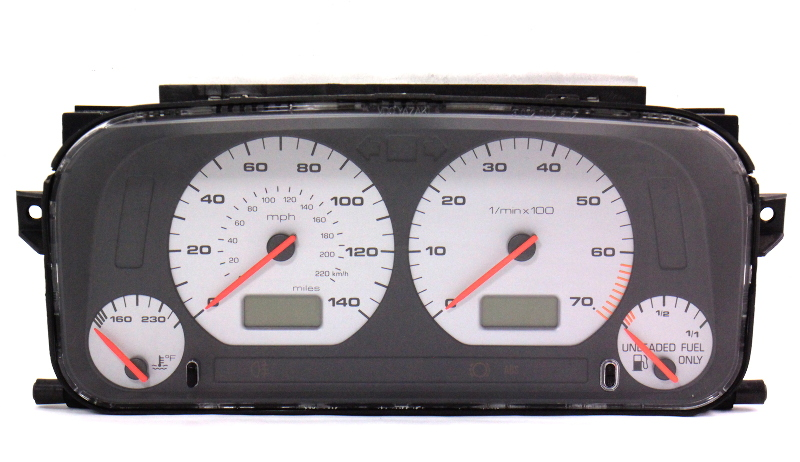 gauge instrument cluster speedometer 96 99 jetta golf