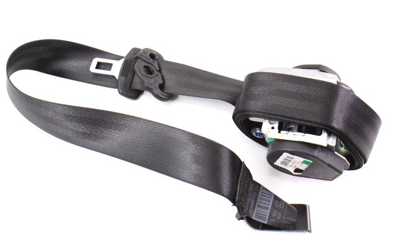 RH Front Seat Belt Seatbelt 06-13 Audi A3 Black Genuine - 8P4 857 706 E