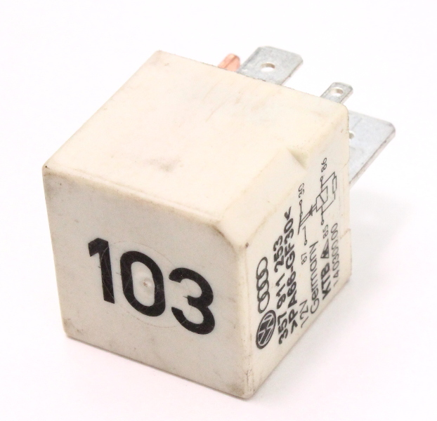 Relay # 103 VW Audi Jetta Golf Beetle Passat A4 A6 A8 - Genuine - 357 911 253