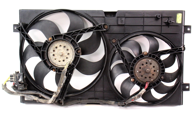 Engine Radiator Dual Cooling Fans 98-05 Vw New Beetle  U0026 Shroud