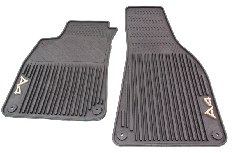 All Weather Black//Beige Rubber Floor Mats Front Rear For 02-08 Audi A4 S4 RS4 B6