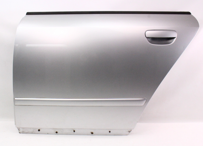 LH Rear Door Shell Skin 02-05 Audi A4 S4 B6 Sedan - LY7W - Light SIlver Metallic