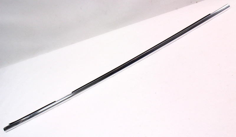 RH Rear Door WIndow Scraper Chrome Trim Molding 04-06 VW Phaeton - Genuine