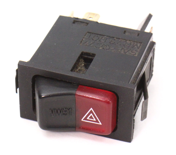 Hazard Lights Switch Button 75-84 VW Rabbit Jetta Cabriolet MK1 - 161 953 235 A