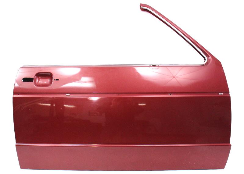 RH Front Door Shell 80-93 VW Rabbit Convertible Cabriolet MK1 - LB3V Titian Red