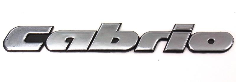 Trunk Emblem Badge Logo Vw Cabrio Iii Mk3 - Genuine