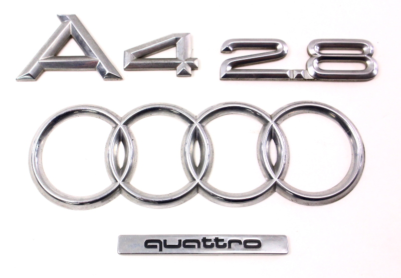 Trunk Emblems Badges A4 2 8 V6 96 02 Audi A4 B5 Genuine
