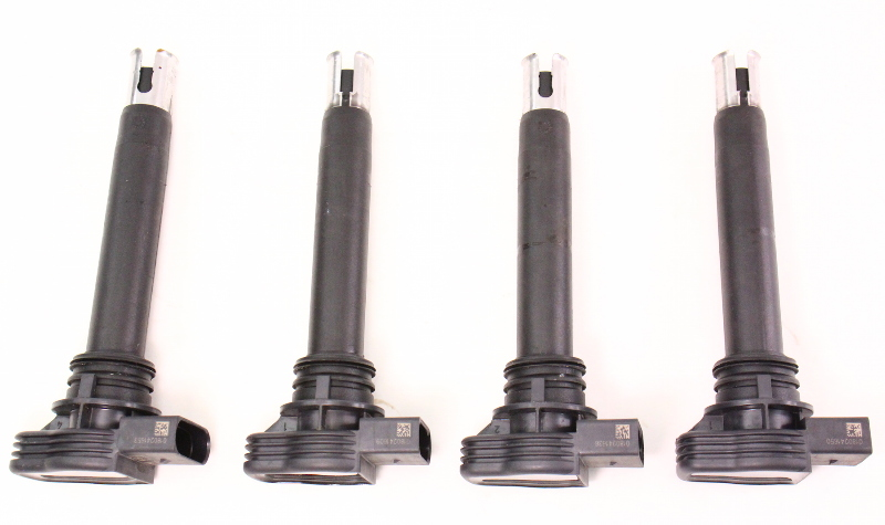 Set Of 4 Ignition Coils Vw Beetle Jetta Gti Eos Passat A4